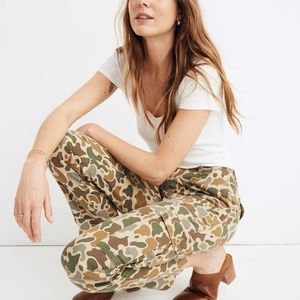 Madewell High-Rise Cargo Pants in Camo NWOT